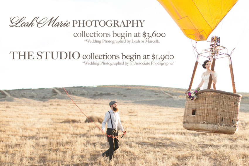 Leah Marie Photography l Temecula, CA Wedding Photographer l Prices and Investment